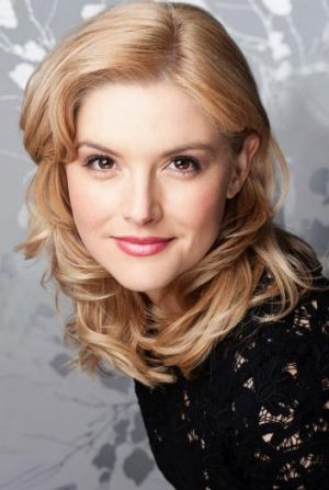 With honey: Lucy Durack flies in as Glinda the good witch in Wicked.