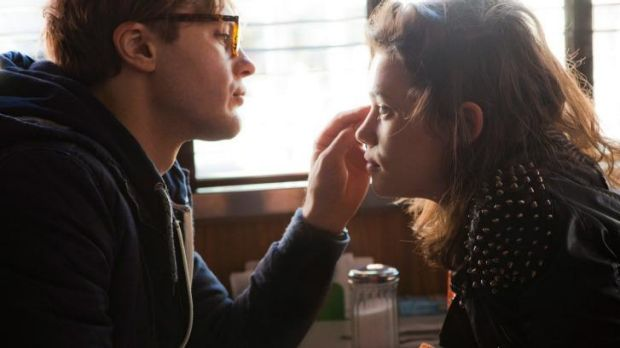 Opposites attract: William Pitt and Astrid Berges-Frisbey hold vastly different views in <i>I Origins</i>.