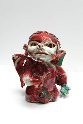 John Perceval - Delinquent Angel, 1923-2000, glazed ceramic.