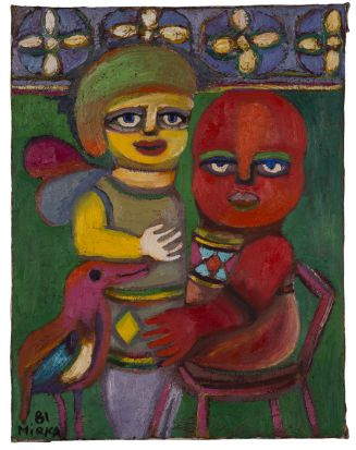 Mirka Mora - Angel and Child, 1981 oil on canvas.