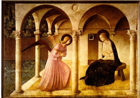Fra Angelico - The Annunciation, 1442-43, Fresco, Convent of San Marco, Florence. [Museo del Convento di San Marco].
