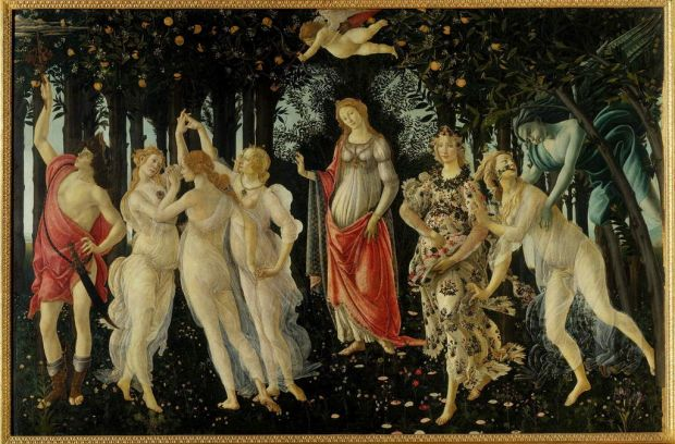 Sandro Botticelli. The Primavera (or the Allegory of Spring). c. 1482. Uffizi Gallery, Florence.