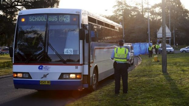 Fatal accident: The bus was carrying school children.
