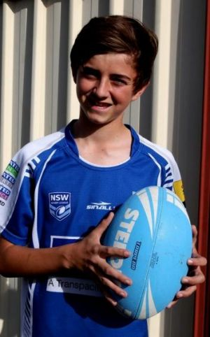 Footy fanatic: Cameron Lloyd.