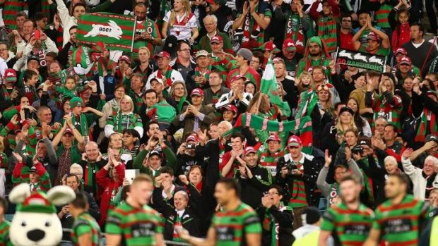 """Don't ever underestimate how important you are. You're our 18th man"": Michael Maguire to Souths fans."