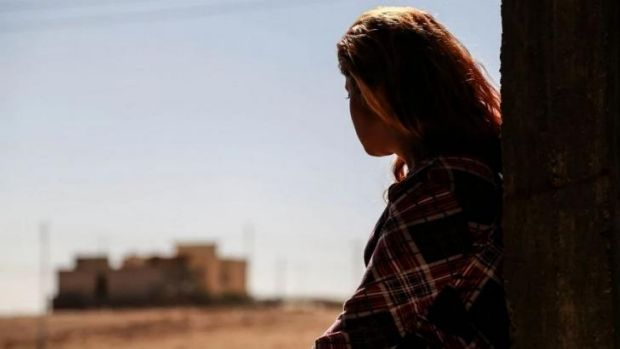 Escaped from Islamic State militants ... 'Narin' was deeply scarred by her ordeal.