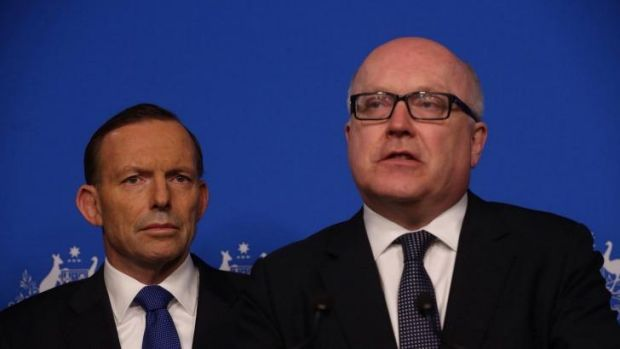 Attorney-General Senator George Brandis (right) with Prime Minister Tony Abbott. Senator Brandis says security will ...