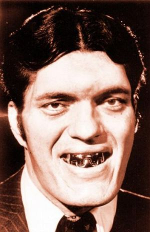 Richard Kiel as Jaws, the villain who appeared in <i>Moonraker</i> and <i>The Spy Who Loved Me</i>.