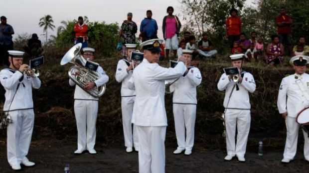 The dawn service in Rabaul, Papua New Guinea, to commemorate 100 years since the first Australian losses of the World War I.
