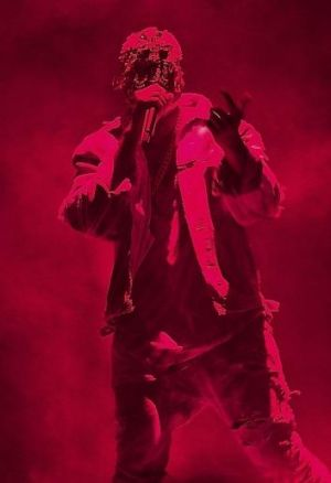 Kanye West performs during 'The Yeezus Tour' at Perth Arena on September 5.