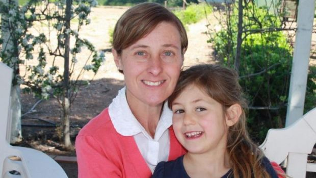 Gone: Kim Hunt and daughter Phoebe.