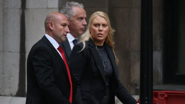 Honouring a promise ... Australian DJ Mel Greig (right) leaves The Royal Courts of Justice.
