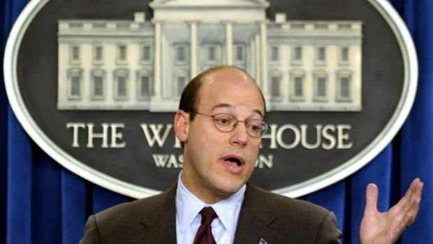 Ari Fleischer gives a White House briefing in 2003.