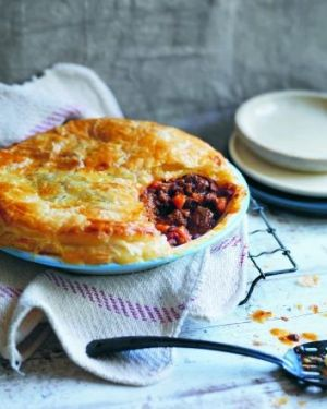 Family fare: Beef and vegetable pie will feed the whole family, including the baby.