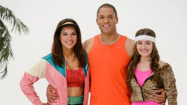 Blake with Chantal and Jessica during the group date.