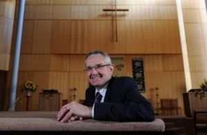 Unlikely pioneer: Reverend Professor Andrew Dutney, president of the Uniting Church of Australia.