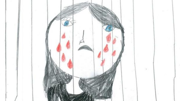 A drawing by a child in detention.