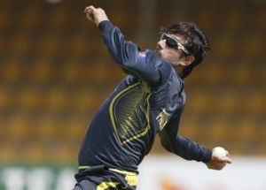 A matter of degrees: Saeed Ajmal trains in Sri Lanka in August.