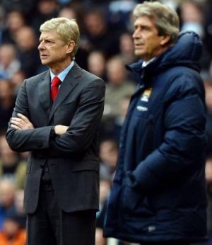Put to the test: Arsene Wenger's side will be fully examined by defending champions Manchester City.