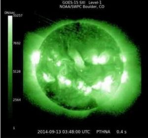 Solar X-ray image of the flare.