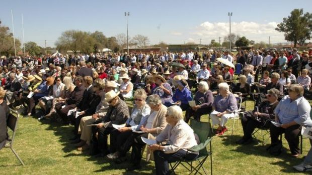 Saturday's memorial service at Canowindra in central western NSW.