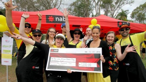 NAB West Lam group, from the western suburbs of Brisbane, donate $1200 as well as proceeds from a sausage sizzle.