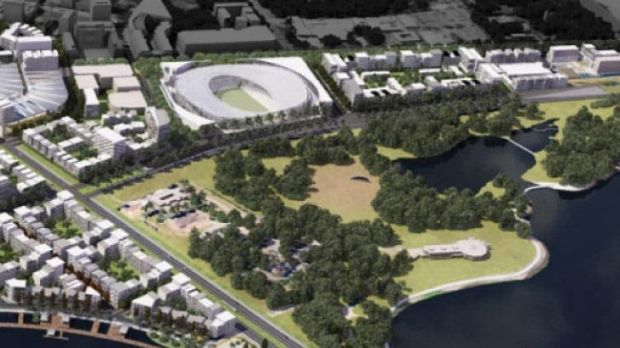 The plans for a proposed new stadium in Canberra.
