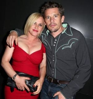 Patricia Arquette and actor Ethan Hawke attend a screening of <i>Boyhood</i> in Los Angeles.