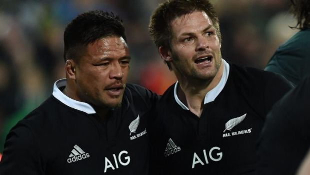 Senior All Blacks, including Richie McCaw (right), were heard complaining to the referee during the match.
