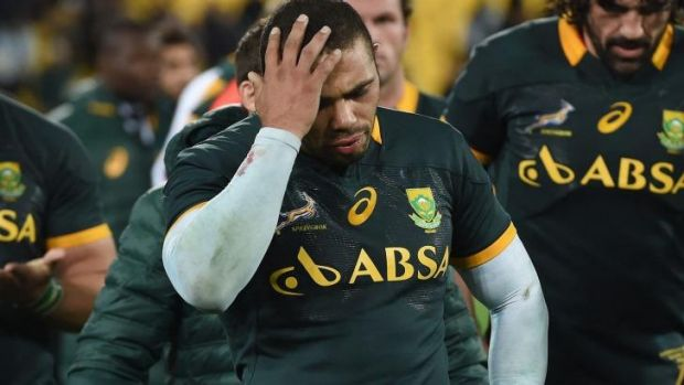Bryan Habana shows the agony of defeat.