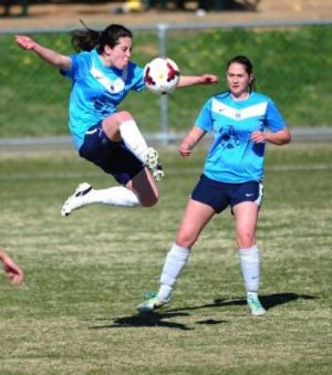 Belconnen United player Jessie Williams in action during Sunday's grand final.