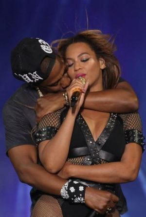 """Jay Z let slip that Beyonce may be """"pregnant with another one"""" at the couple's show in Paris."""