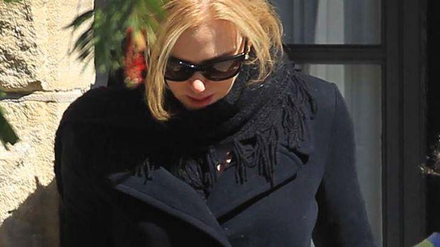Nicole Kidman arrives in Sydney.