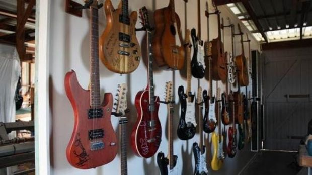 The stolen guitar collection worth $30,000.