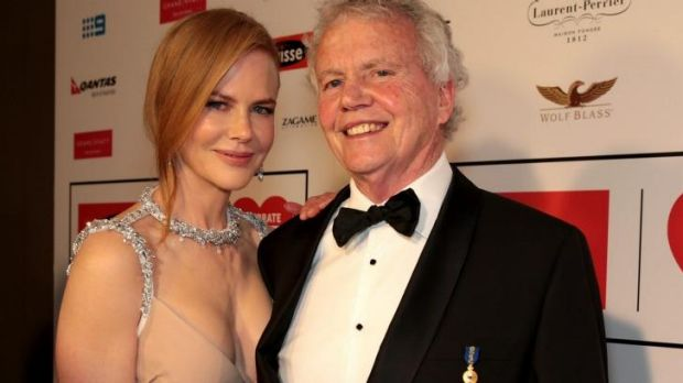 Nicole Kidman and her father Antony at the Celebrate Life gala in Melbourne earlier this year.