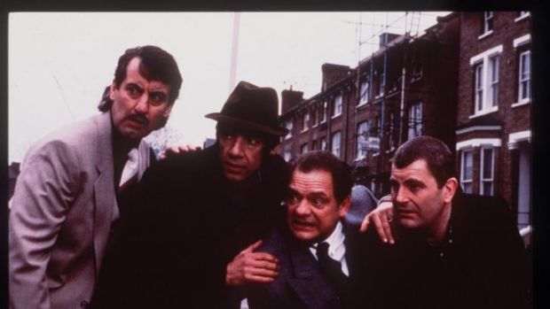 Saucy old git: Del Boy and the gang in Only Fools and Horses.