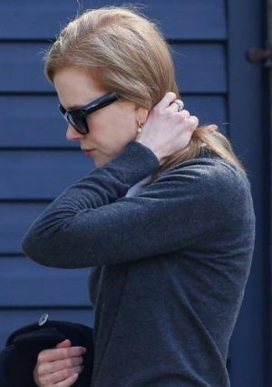 Nicole Kidman arrives at her family home in Sydney on Monday.