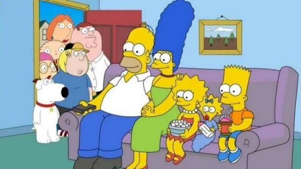 Home invaders: <i>The Simpsons Guy</i> airs on 7Mate.