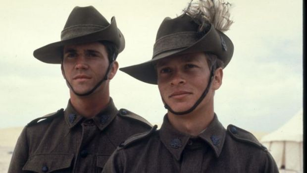 Mel Gibson (left) and Mark Lee in Peter Weir's classic film Gallipoli (1981). New Zealand director Peter Jackson is ...