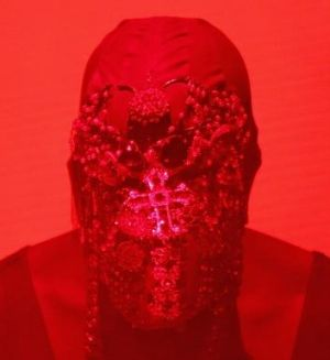 Face covered, Kanye West was still able to go on a tirade at his Brisbane concert.