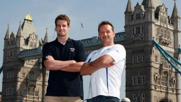 James Magnussen with his then coach Brant Best before the London Olympics.