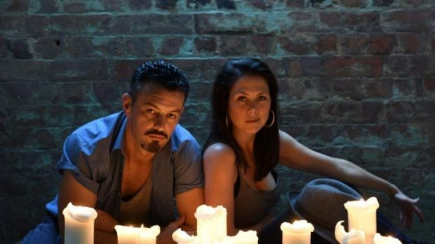 The play that dare not speak its name: Troy Harrison and Zoe Trilsbach who star in the Eternity Playhouse's <i>The ...
