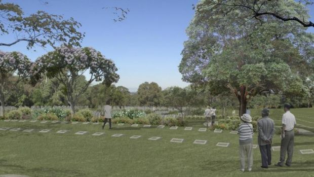 The plots thicken: An artist's impression of the proposed Macarthur Memorial Park.