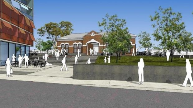 Artist's impression of Jewell Station Precinct, Brunswick.