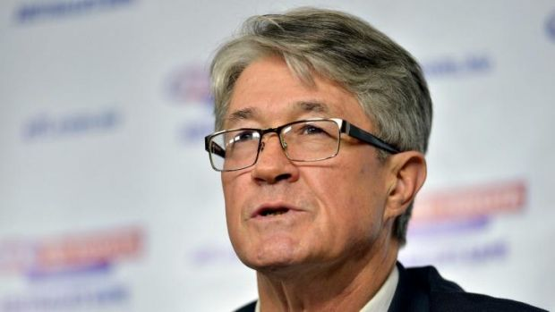 AFL chairman Mike Fitzpatrick, who says the email about his personal investment should not have gone out from an AFL ...