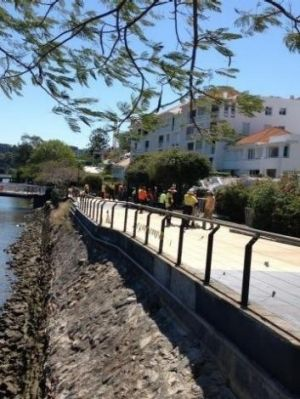 Council workers returned to the Riverwalk site on Wednesday morning.