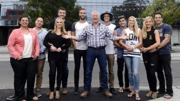 <i>The Block Glasshouse</i> contestants with host Scott Cam.