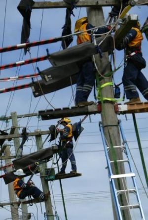 Electricity system repairs.
