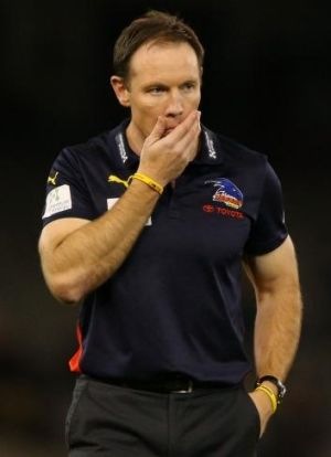 Former Crows coach Brenton Sanderson: dismissed after three seasons at Adelaide.
