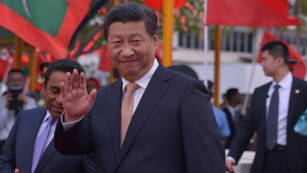 President Xi Jinping arrives in the Maldives, where he told Chinese tourists to eat less instant noodles and more local ...